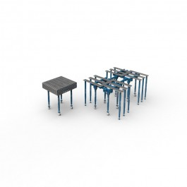 Table de soudage modulaire GPPH Ø 28 mm | Deronne-soudure.fr