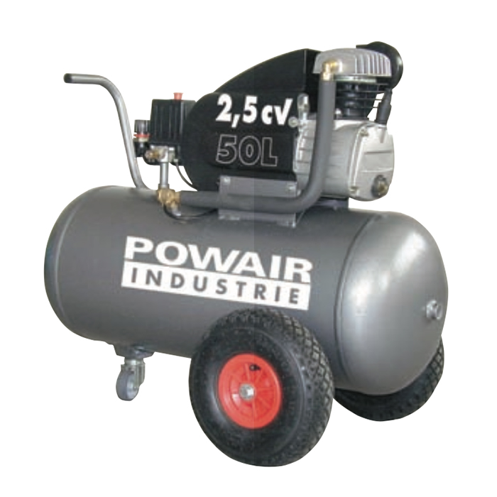compresseur powair  u00e0 entra u00eenement direct 2 5cv 50 litres